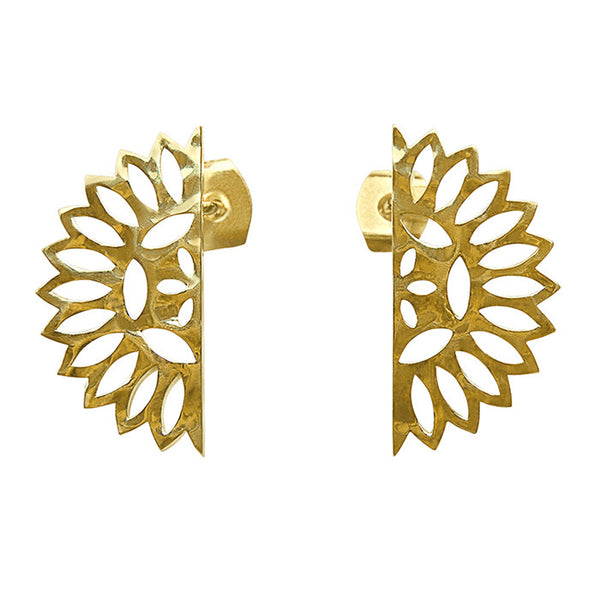 Lace Edge Earrings in 18 KT yellow gold plate