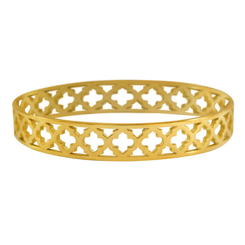 Moroccan Bangle in 18KT Yellow Gold plate