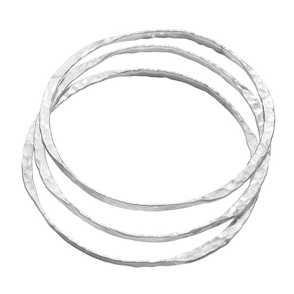 Endless Bangles set of 3 sterling silver 925