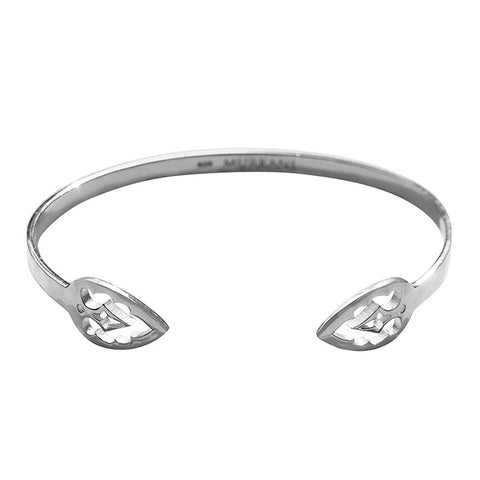 Casablanca Open Cuff Bangle in Sterling Silver