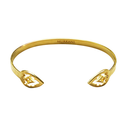 Casablanca open cuff 18KT yellow gold plate bangle