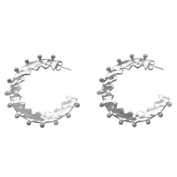 Maya Large Hoop Earrings Sterling Silver