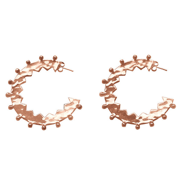 Maya Large Hoop Earrings Rose Gold plate