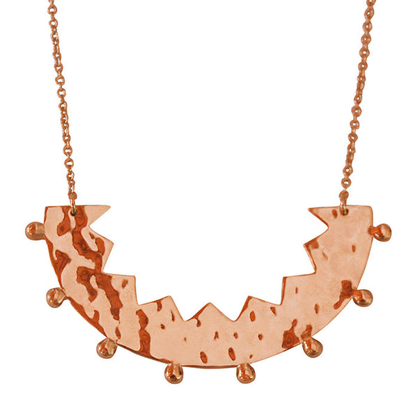 Frida Pendant Necklace in Rose Gold plate