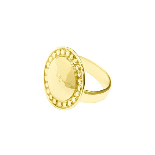 Marrakech Ring plated in Yellow Gold