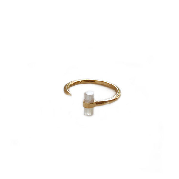 Moonstone Gemstone Bar Ring