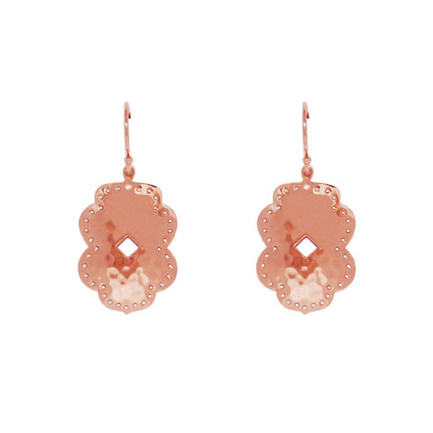 Beleza Medium Drop Earrings in Rose Gold Plate