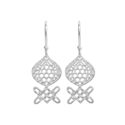 Andalusia Medium Hanging Earrings in Sterling Silver