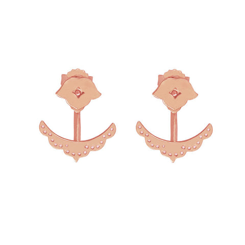 Beleza Cuff Earrings in Rose Gold plate by Murkani