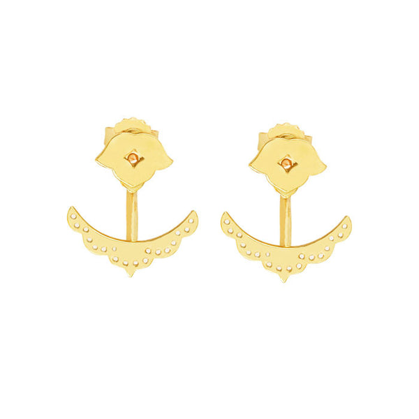 Beleza Cuff Earrings in 18 kt Yellow Gold plate by Murkani