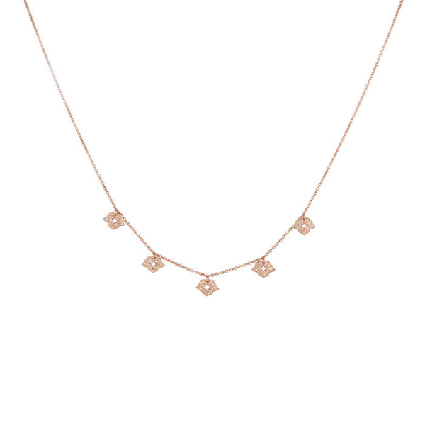 Beleza Choker Necklace in Rose Gold plate