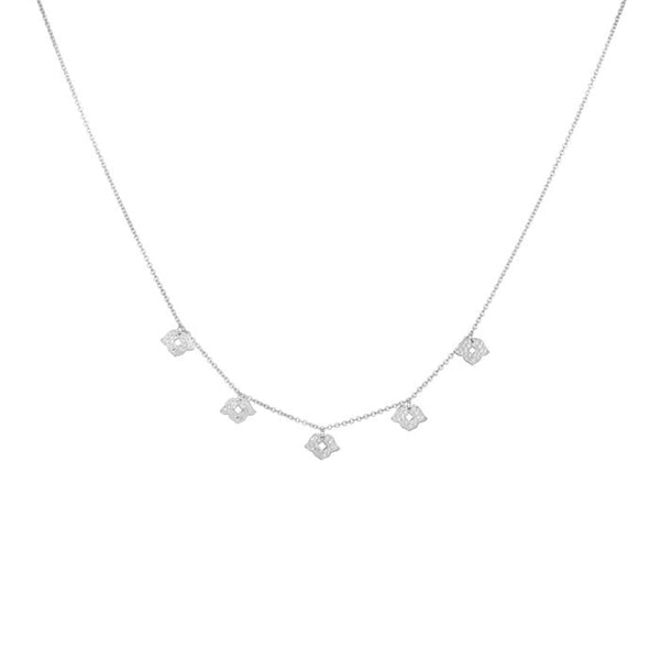 Beleza Choker Necklace in Sterling Silver 925