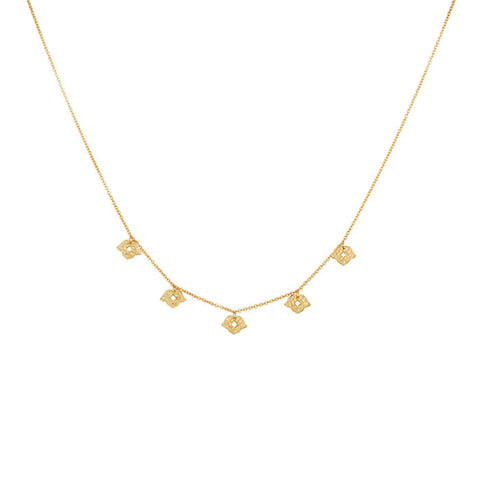 Beleza Choker Necklace in 18 KT Yellow Gold plate