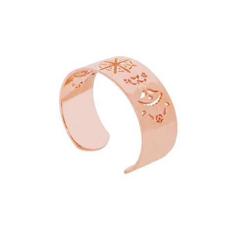 Beleza Cuff Bangle in Rose Gold plate