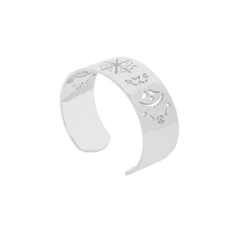 Beleza Cuff Bangle in Sterling Silver 925