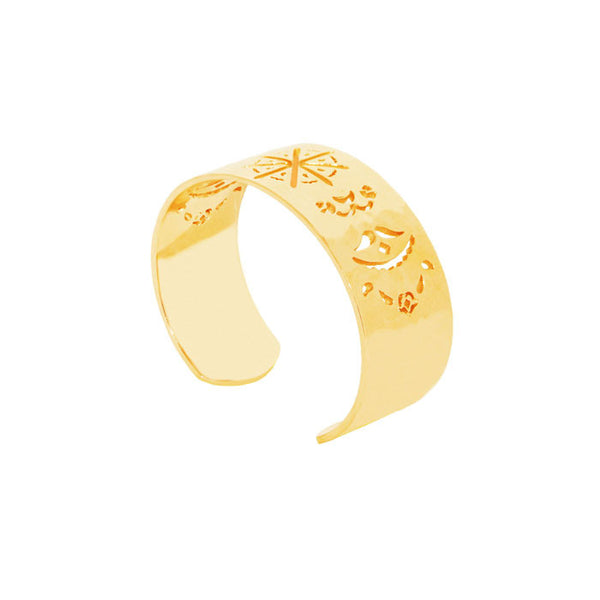 Beleza Cuff Bangle in 18KT Yellow Gold plate