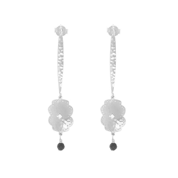 Beleza Long Hanging Earrings in Sterling Silver 925