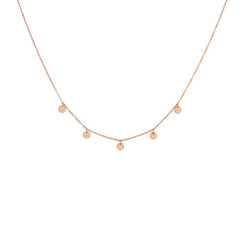 Grace Choker Necklace in Rose Gold plate