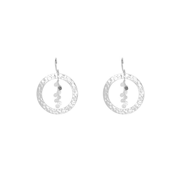 Grace Hoop Earrings in Sterling Silver 925