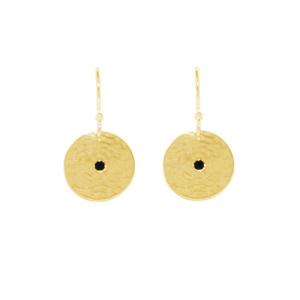 Grace Small Disc Earrings in 18 kt Yellow Gold Plate