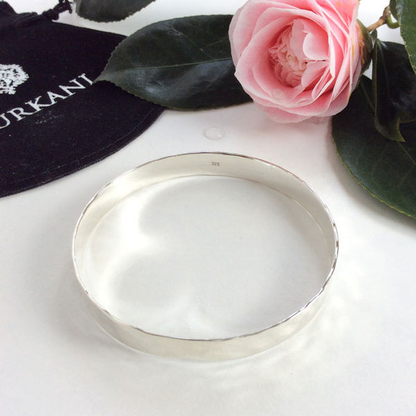 Journey silver bangle