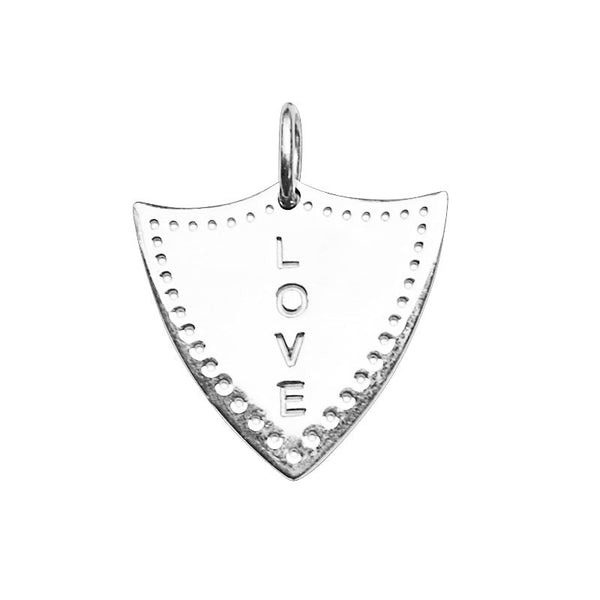 Silver Love Shield Charm