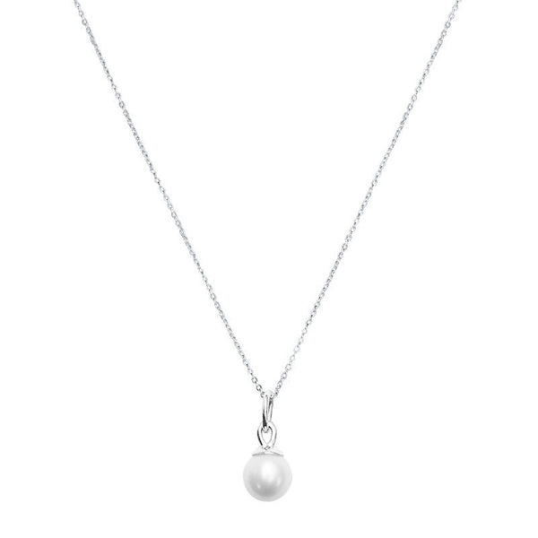 Tear Drop Pearl Charm in Sterling Silver
