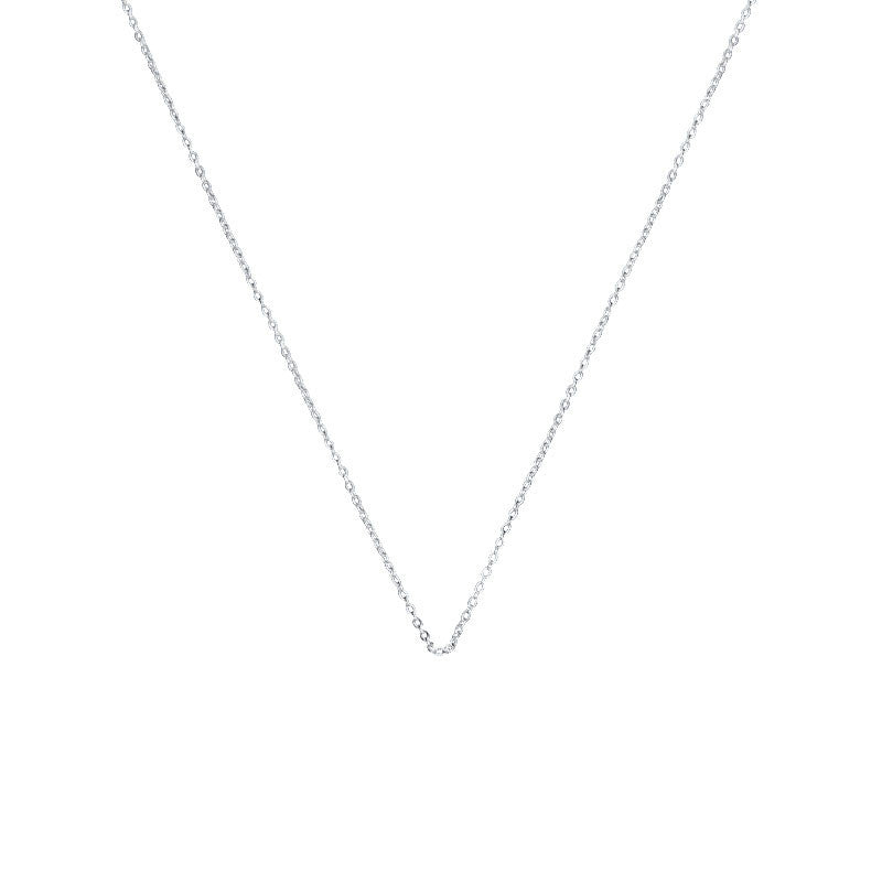curb women item necklaces girls jewelry sterling chain beads pure silver thin choker slim
