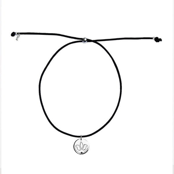 Choker with Lotus Charm