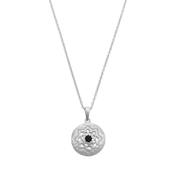 Andalusia Necklace with Black Spinel Stone in Sterling Silver