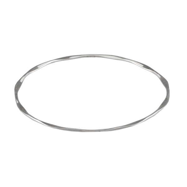 Silver 925 Faceted Edge Bangle Ichu Jewellery