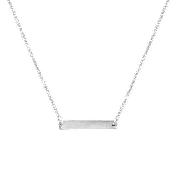 Silver bar necklace from Ichu