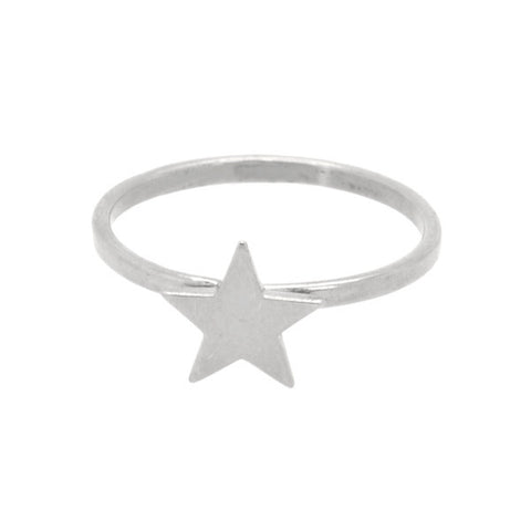 Star ring sterling silver