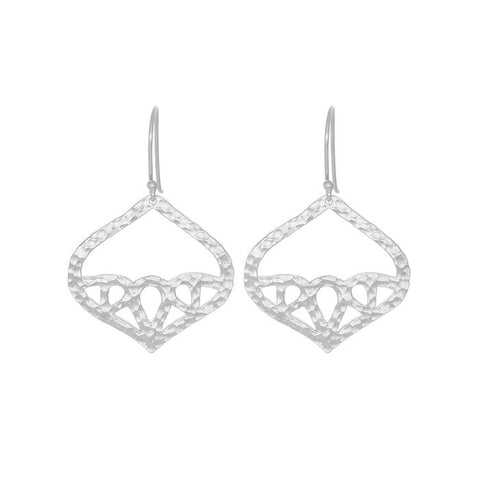 Geneva Earrings Silver NICOLEFENDEL