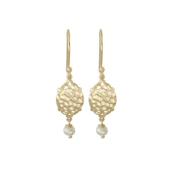 Rhea Mini Earrings Soft Freshwater Pearl Soft Gold NICOLEFENDEL