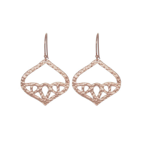 Geneva Earrings Rose Gold NICOLEFENDEL