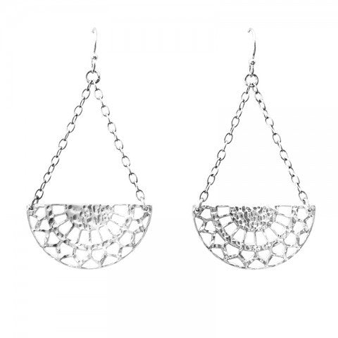 Ottoman Hanging Earrings in Sterling Silver 925