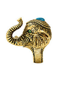 House of Harlow Elephant Prosperity Ring