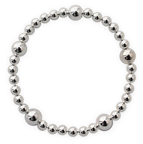 TB11 Silver Stackable Bracelet
