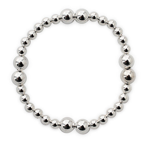 TB12 Silver Stackable Bracelet