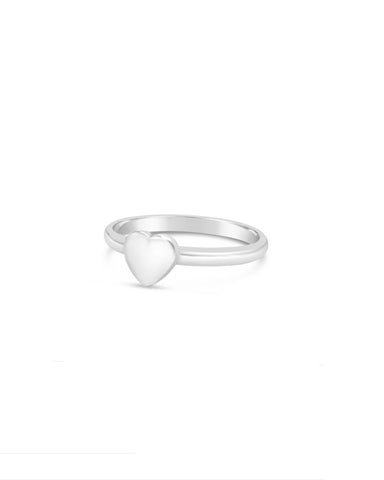 Tiny Heart Ring 925 Silver