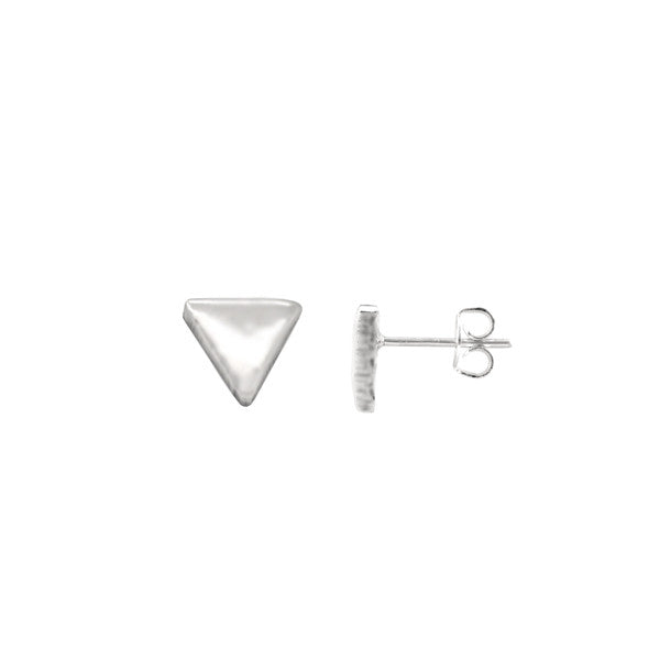 Tiny Triangle Stud Earrings 925 Silver