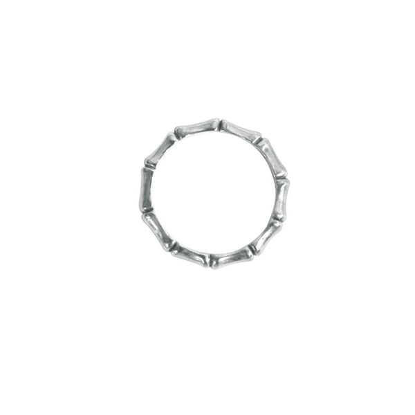 Bamboo ring in sterling silver 925