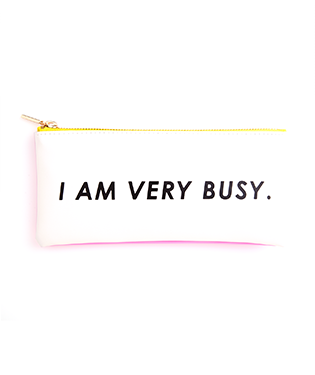 """Busy"" Get It Together Pencil Pouch"