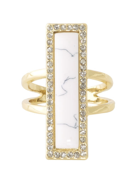 House of Harlow Illuminating Rectangle Ring