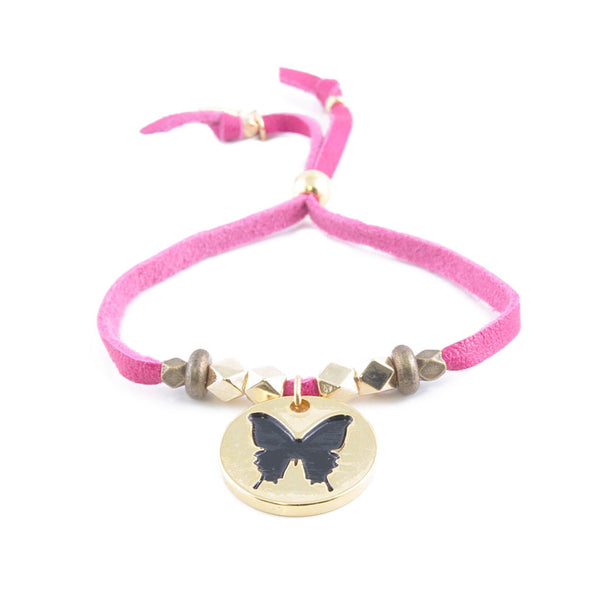 Hope Butterfly Leather Bracelet
