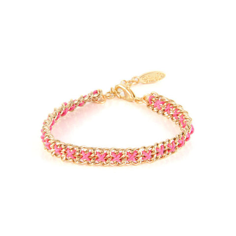 Pink All Chained Up Bracelet