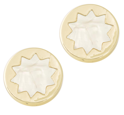 House of Harlow Pearl Sunburst Studs
