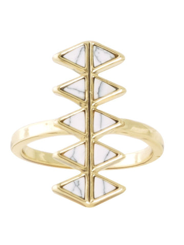 House of Harlow Reflector Bar Ring