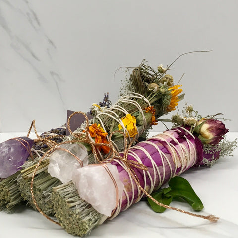 Elements of Sage smudging sticks
